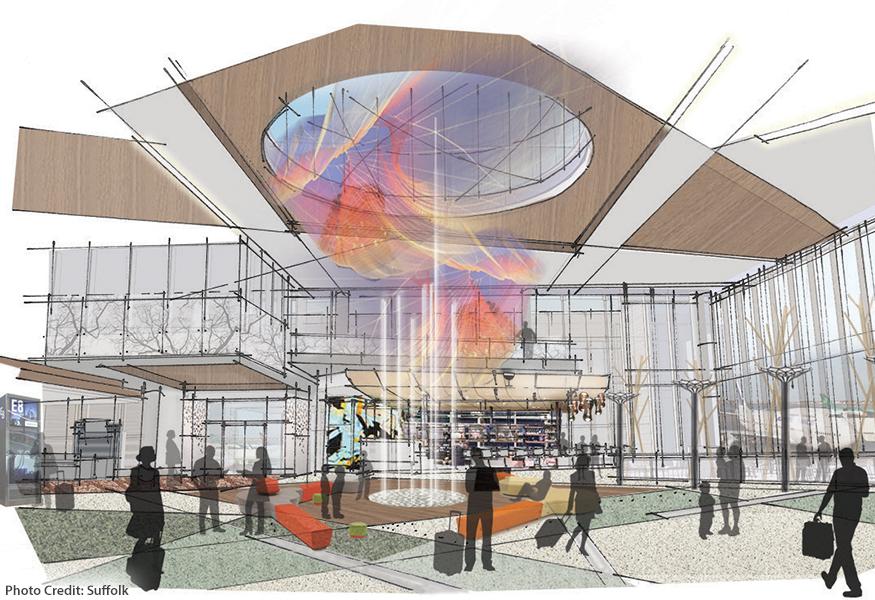 Logan Terminal E Renovations and Enhancements Rendering