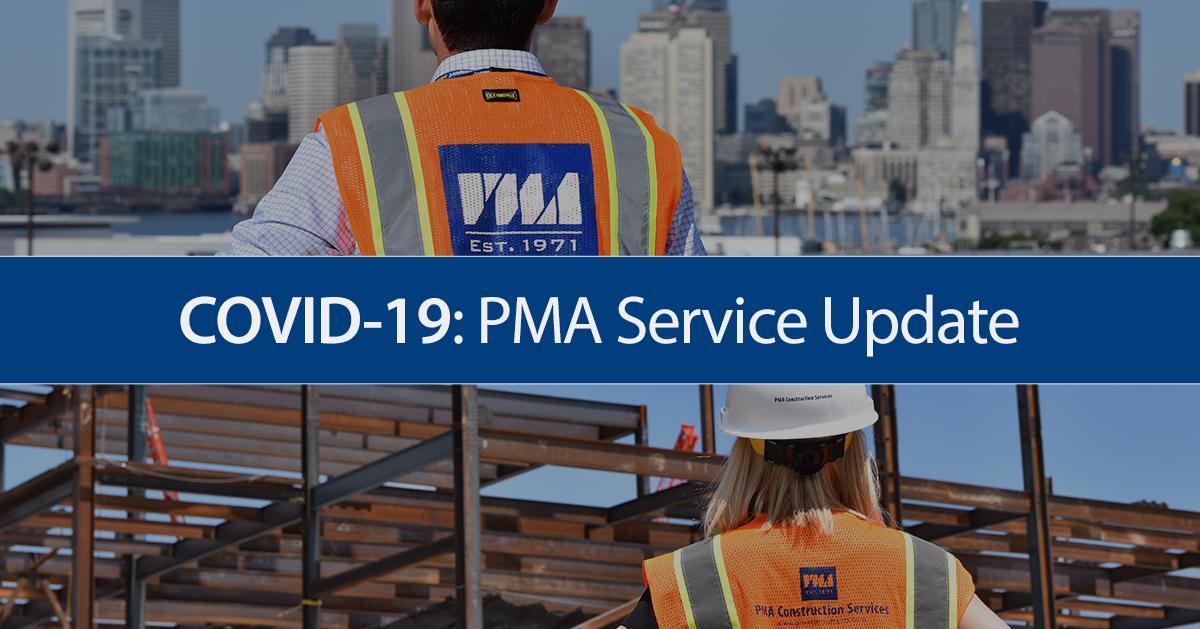 COVID-19: PMA Service Update