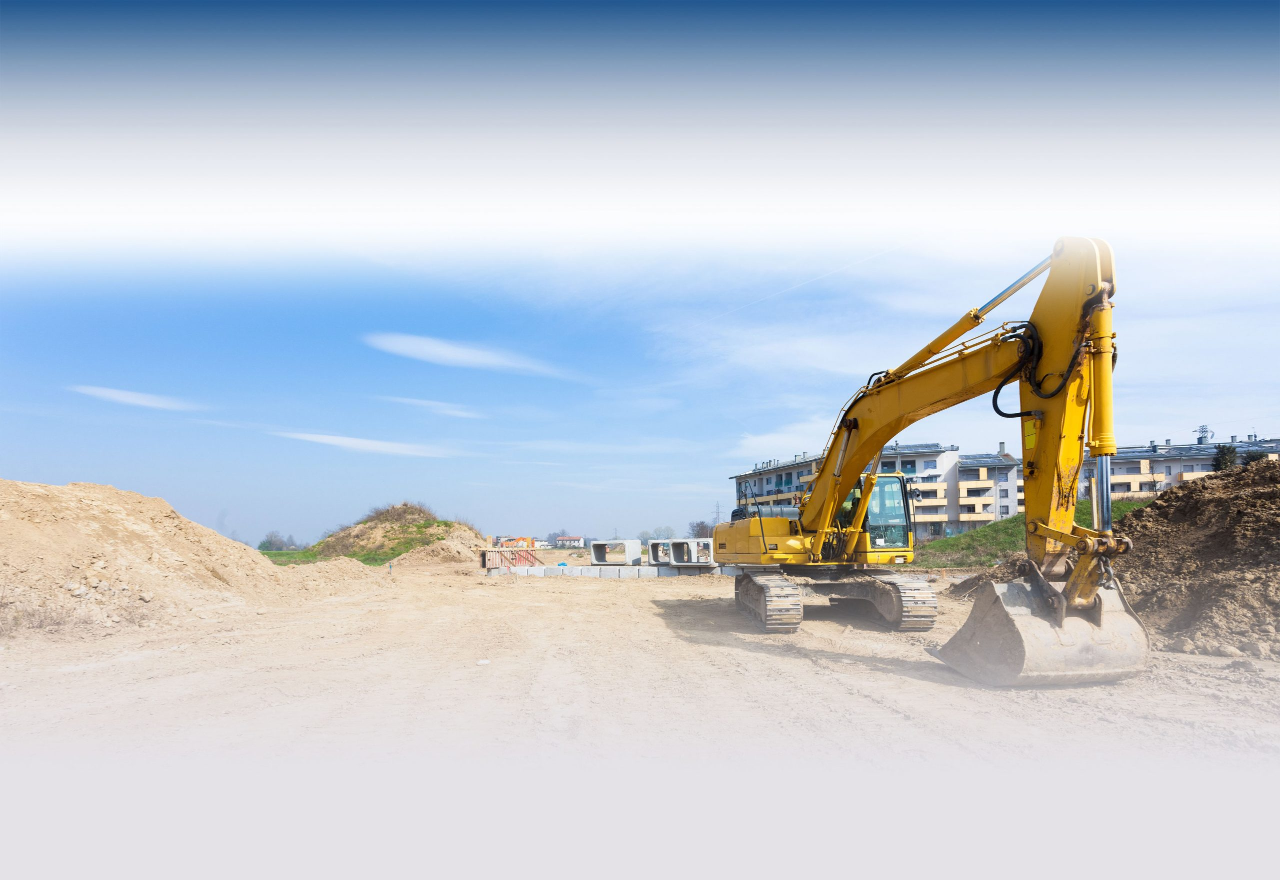 Excavator at project site